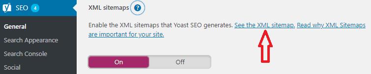 Sitemap beállítása Yoas SEO plugin-nal