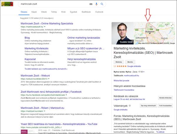 térkép megjelenés googleben