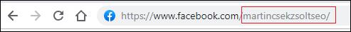 Facebook oldal URL címe