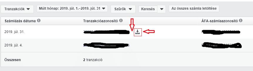 Facebook számla letöltése