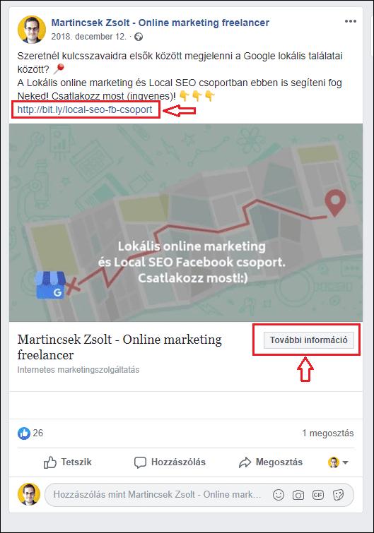 Facebook csoport hirdetése