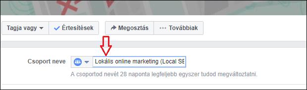 facebook csoport nevének megváltoztatása