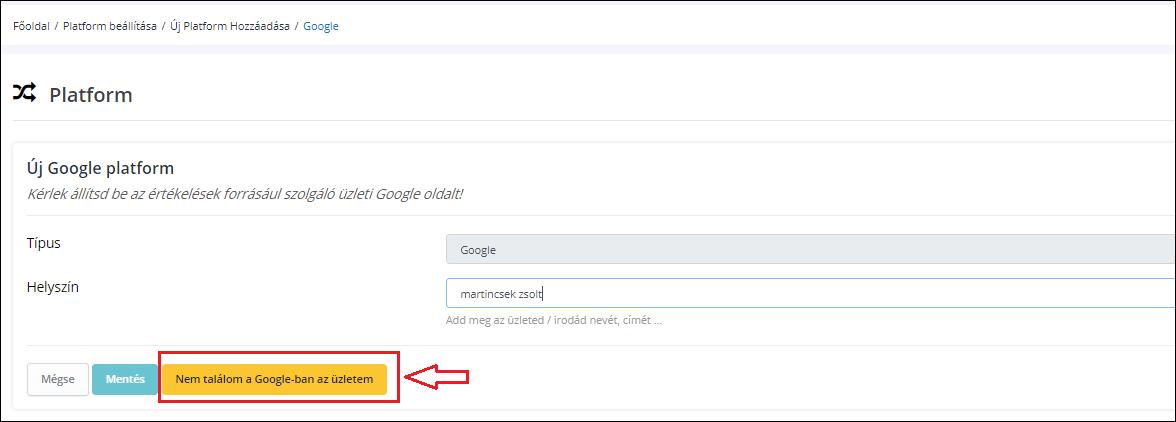 Google cégem platform beállítása
