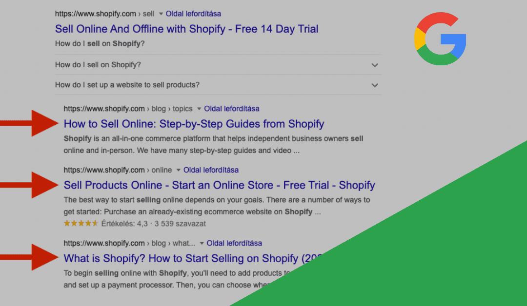Duplán megjelenő/csoportosított találatokat tesztel a Google?
