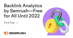 SEMRush ingyenes backlink kutató funkció